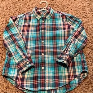 Ralph Lauren Boys Button Down Shirt Size 6
